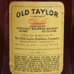 old_taylor_bonded_1947_back_label