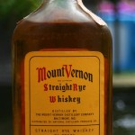 mount vernon rye whiskey 7 year 1958 - front