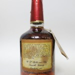 old weller original bourbon 7 year 107 proof 1977 - back