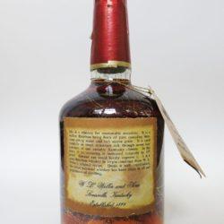 old weller original bourbon 7 year 107 proof 1977 - back