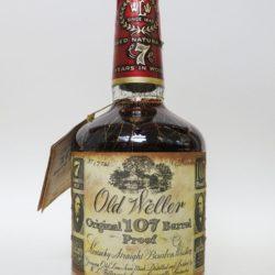 old weller original bourbon 7 year 107 proof 1977 - front