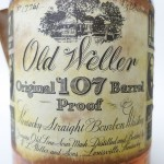 old weller original bourbon 7 year 107 proof 1977 - front label