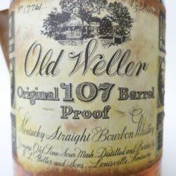 old weller original bourbon 7 year 107 proof 1977 - front label