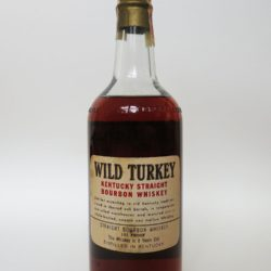 wild turkey 8 year 101 proof bourbon 1965 - back