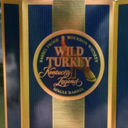 wild turkey legend single barrel bourbon doughnut donut bottle - box