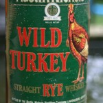 wild turkey rye whiskey christmas bottle 1992 - front label