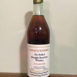 a.h. hirsch 15 year bourbon - front
