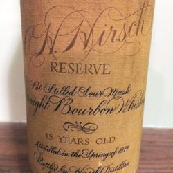 a.h. hirsch 15 year bourbon - front label