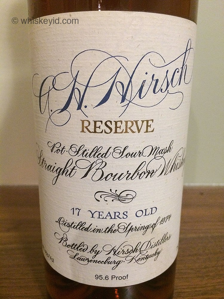 a.h. hirsch bourbon 17 year - front label
