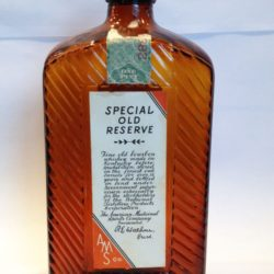 american medicinal spirits special old reserve bourbon 1932 front