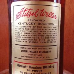 berghoff 14 year bourbon 1981 back label
