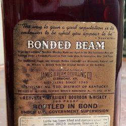 bonded beam bourbon 1943 - back