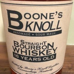 boone's knoll 16 year bourbon - front label