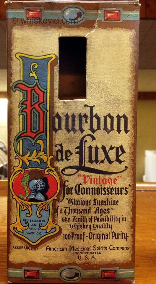 bourbon de luxe bonded prohibition 1932 - box