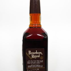 bourbon royal 12 year 1988 back