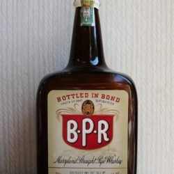b.p.r. maryland rye whiskey 1941 - front