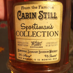 cabin_still_bourbon_sportsmans_collection_decanter_1969_label