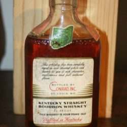 conrad's 1874 bourbon 1959 - back