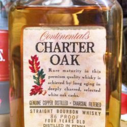 continental's charter oak bourbon 1968 back