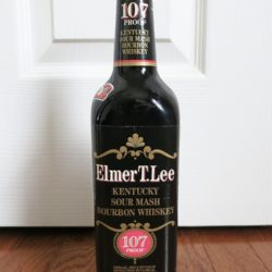 elmer t. lee 107 proof bub bourbon - front