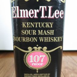 elmer t. lee 107 proof bub bourbon - front label