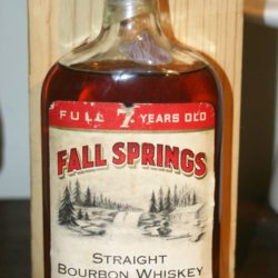 fall springs bourbon 7 year 1958 - front