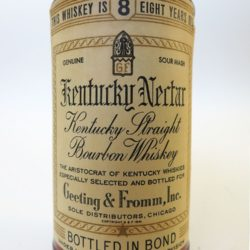 geeting & fromm kentucky nectar bourbon 8 year 1967 front label