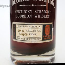 george t. stagg bourbon 2005 fall - front label