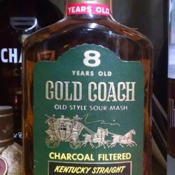 gold coach 8 year bourbon front