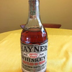 hayner private stock ohio whiskey 1917 - front
