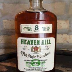 heaven hill 8 year bonded bourbon 1976 front