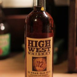 high west 12 year rye whiskey front