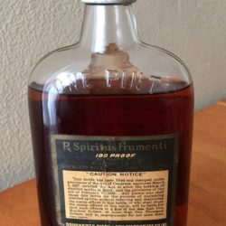 j.a. dougherty's sons pennsylvania rye whiskey back