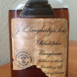 j.a. dougherty's sons pennsylvania rye whiskey front