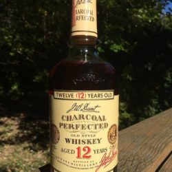 j.w. dant charcoal perfected whiskey 12 year front