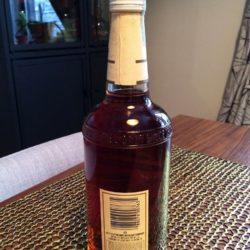 j.w. dant bonded bourbon 1982 back