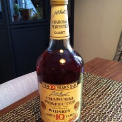 j.w. dant charcoal perfected whiskey 10 year 1977 front