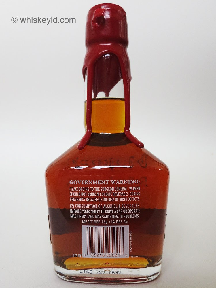 Makers mark cask strength 2014 back whiskey id identify vintage