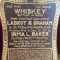 old_baker_whiskey_1919_back_label