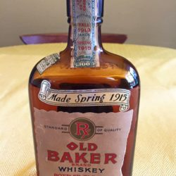 old baker whiskey 1919 - front