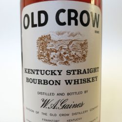 old crow 86 proof bourbon 1964 front label