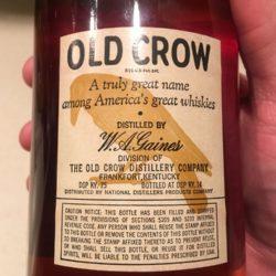 old_crow_bonded_bourbon_1960_1965_back_label