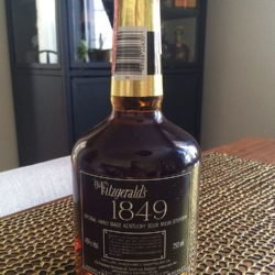 old fitzgerald 1849 bourbon 1987 back