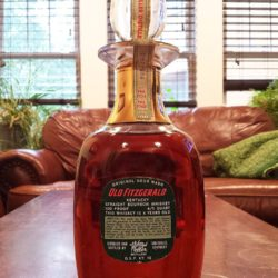 old fitzgerald bonded decanter 1960 back