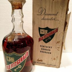 old fitzgerald bourbon bonded diamond decanter 1951