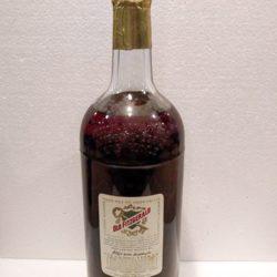 old fitzgerald bonded bourbon half gallon 1960 back