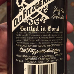 old_fitzgerald_bourbon_export_early_1980s_back_label