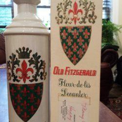 old fitzgerald fleur-de-lis bourbon decanter 1962