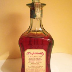 old fitzgerald bonded bourbon hospitality decanter back