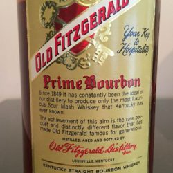 old fitzgerald prime bourbon 6 year 1974 back label